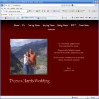 My Wedding Site: coverScnSht.jpg